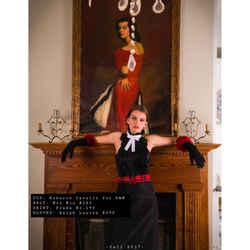 Sz 4 NEW $295 MU MIU Woman's Runway Red Black Blue Check PLAID Fabric Waist BELT