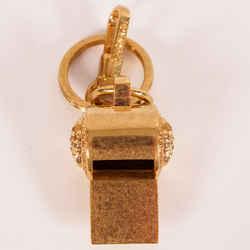 NEW $625 VERSACE RUNWAY GoldTone Metal MEDUSA LOGO Bag Fob BELL SHAPED KEYRING