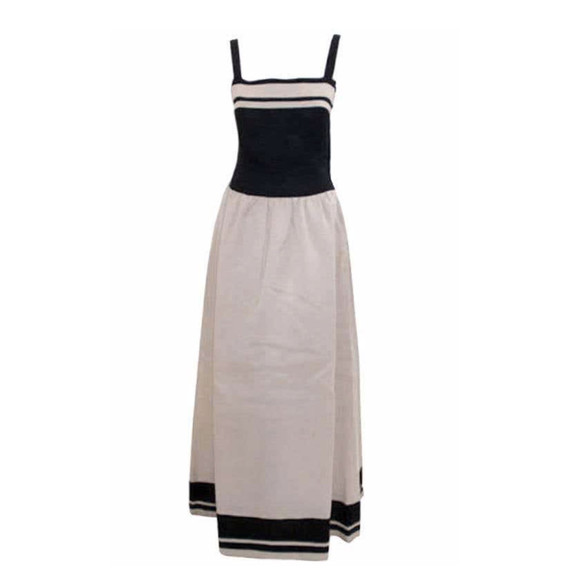 CHRISTIAN DIOR 1980s Haute Couture Black and White Dress