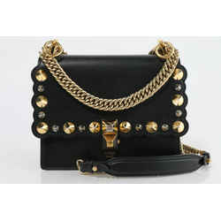 Fendi Women's Mini Kan I Studs Shoulder Bag
