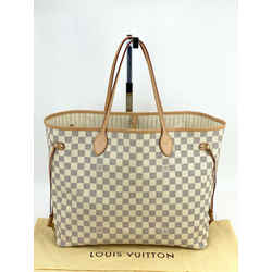 Louis Vuitton Neverfull GM Damier Azur Tote Bag N41360 Authentic A596 1020