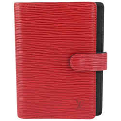 Louis Vuitton Red Epi Leather Small Ring Agenda PM Diary Cover 170lv730