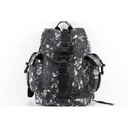 Givenchy Men's Black Camo Flower-print Leather Backpack