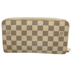 Louis Vuitton Damier Azur Zippy Organizer Wallet Zip Around 8lv122