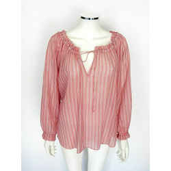 $425 Zimmermann Red/white Cotton  Aerial Top Sz Small (2)