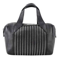 Just Cavalli HandBag Eyelets Shoulder Bag Black Size 5 Authenticity Guaranteed