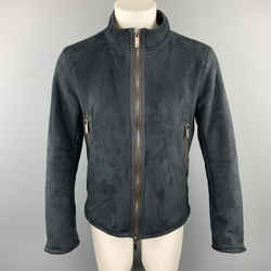Emporio Armani Size S Black Polyester / Nylon Full Zip Zipped Sleeves Jacket