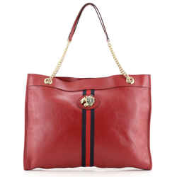 Rajah Chain Tote Leather Large