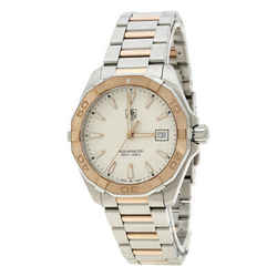 Tag Heuer White Rose Gold Tone Stainless Steel Aquaracer WAY1150.BD0911 Men's...
