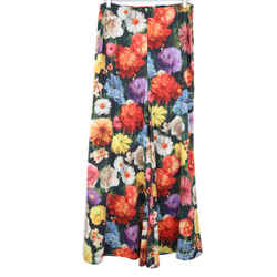 Alice + Olivia Black Multi Color Floral Pants Sz. 8
