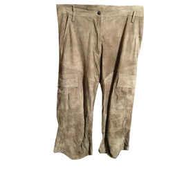 Plein Sud Size 6 Brown Suede Knee Length Pants 2400-333-12719
