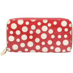 Louis Vuitton Red Monogram Vernis Kusama Infinity Dots Zippy Wallet 862156