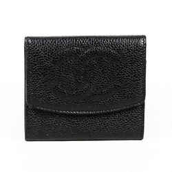 Chanel Wallet Vintage Timeless Black Caviar Leather CC