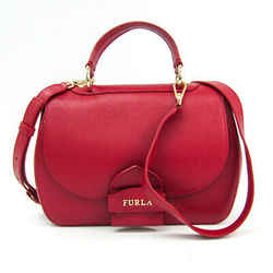 Furla Like M 907606 Women's Leather Handbag,shoulder Bag Red Color Bf511240