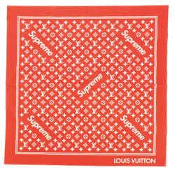 Square Scarf Limited Edition Supreme Monogram Cotton