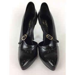 Dolce&Gabbana Black Dolce & Gabbana Leather Mary Jane Platform Pumps