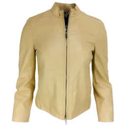 Burberry Mustard Yellow Moto Zip Jacket