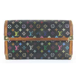 Louis Vuitton Black Monogram Multicolor Sarah Flap Wallet 3lvs17
