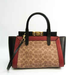 Coach Signature Troop Carryall 78488 Women's Leather,Coated Canvas Hand BF529931