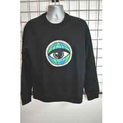 KENZO PARIS BLACK COTTON Men's Long Sweat Shirt Size Medium On Sale ns