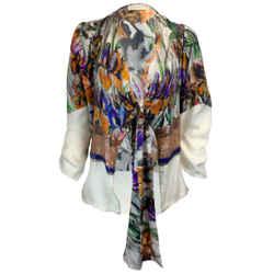 Dries van Noten Multicolor Sequined Silk Blouse