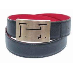 Hermes Red X Navy ( Ultra Rare ) Reversible Lucky Logo Kit 866228 Belt