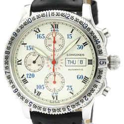 Polished LONGINES Lindbergh Chronograph Automatic Mens Watch L2.618.4 BF503618