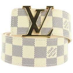 Louis Vuitton 80/32 LV Initiales 40MM Damier Azur Canvas Belt 460lvs62