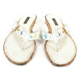 Louis Vuitton - Multicolor Monogram Cork Sandals - White Logo - Us 5.5 - 36