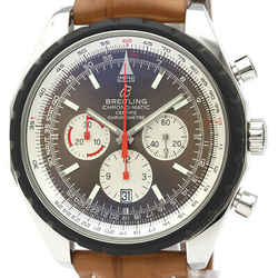 Polished BREITLING Chrono-matic 49 Chronograph Automatic Watch  A14360 BF522068