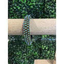 Tory Burch Aqua & Brass Bracelets
