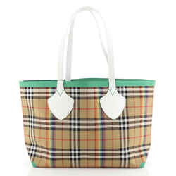 Reversible Giant Tote Vintage Rainbow Check Canvas Medium