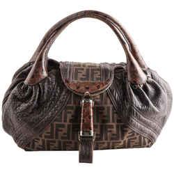 Fendi Zucca Spy Shoulder Bag