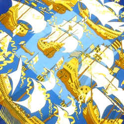 Vintage Authentic Hermes Blue  with Multi Silk Fabric Armada Scarf France
