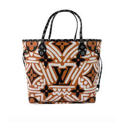 Louis Vuitton Crafty Giant Monogram Neverfull MM in Orange Tote Shoulder Handbag