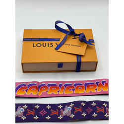 Louis Vuitton Astro Capricorn BB Bandeau Neckerchief Scarf Wrap Twilly Bandanna 47.2L x 2H