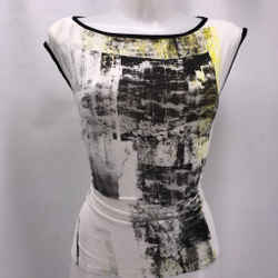 Helmut Lang White Graphic Tank Large