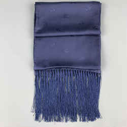 Burberry London Jacquard Navy Silk Scarf