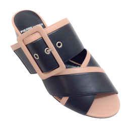 Pierre Hardy Black / Tan Criss Cross Buckle Sandals