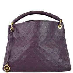 LOUIS VUITTON Artsy MM Empreinte Leather Shoulder Bag Aube