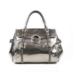 Versace Metallic Leather Handbag