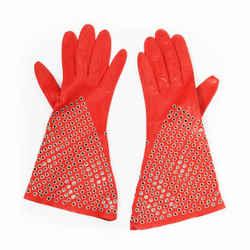 Leather Grommet Gloves