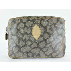Saint Laurent YSL Taupe Grey Cosmetic Pouch Toiletry Case Bag 5YSLS127