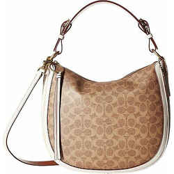 Coach Coated Canvas Signature Sutton Hobo