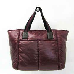 Bottega Veneta Women's Leather,nylon Handbag Black,bordeaux Bf512557