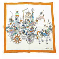White Hermes La Folle Parade Silk Scarf