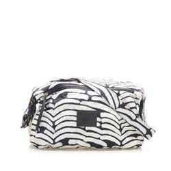 Vintage Authentic Chanel White Nylon Fabric Sport Line Crossbody Bag France