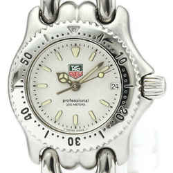 Polished TAG HEUER Sel Professional Steel Quartz Ladies Watch WG1412 BF518950
