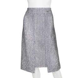 CHANEL   Sequin Tweed Skirt