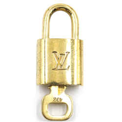 Louis Vuitton Gold Brass Lock and Key Set #432